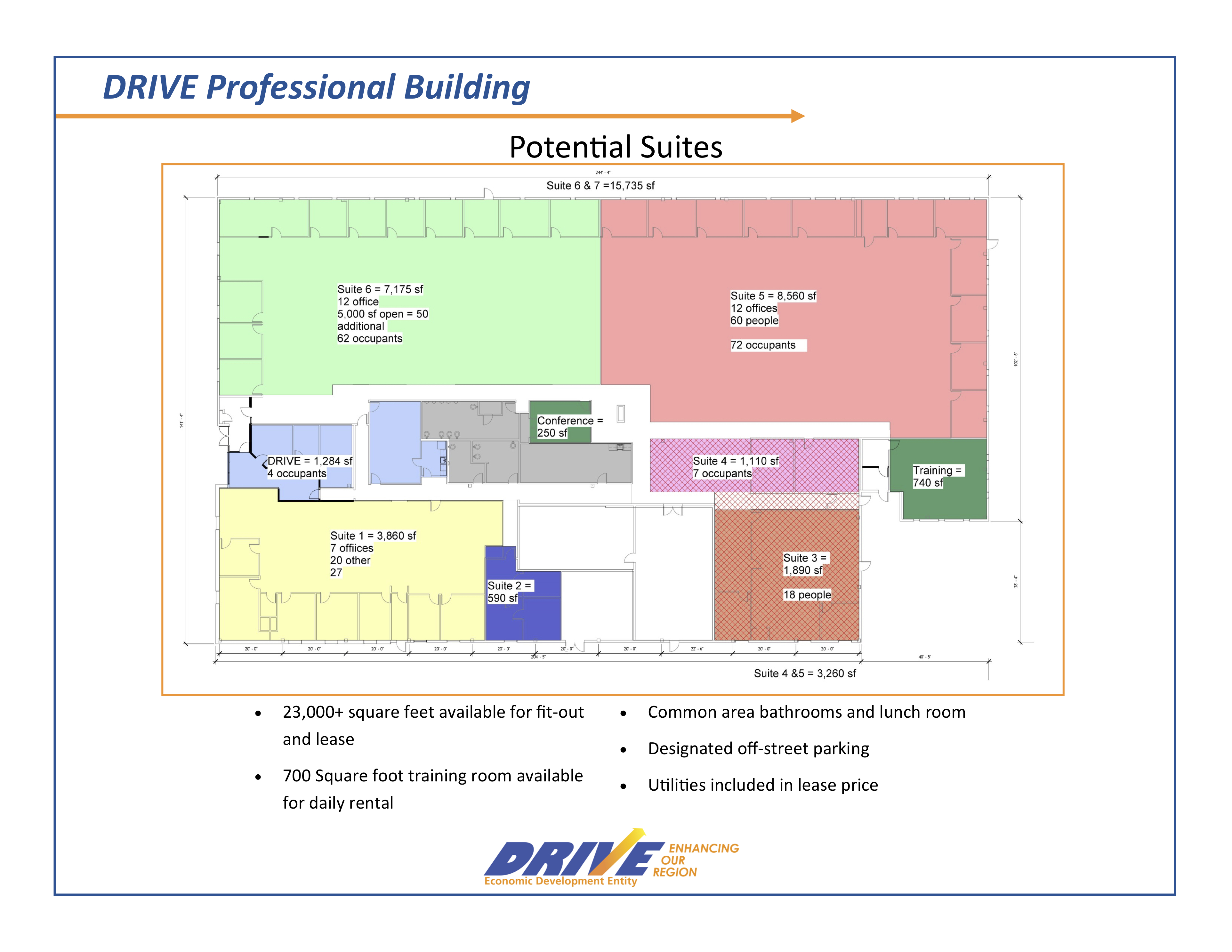 DRIVE Professional Building Sample Layout